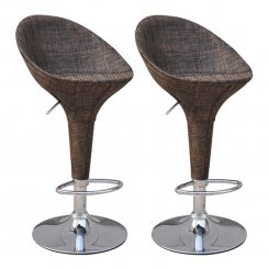rattan/wicker bar stools